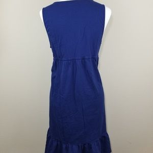 LOFT Dresses - LOFT Blue Ruffle Waist Tie Empire Dress
